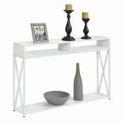 Convenience Concepts Tucson Deluxe 2 Tier Console Table in W