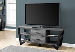 TV Stand in Gray and Black