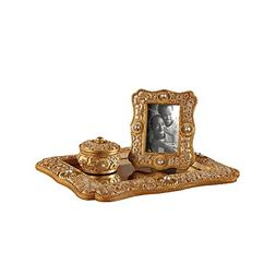Vanity Mirror Tray with Picture Frame and Jewelry Organizer