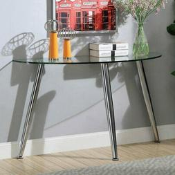 Furniture of America Vermeer Glass Console Table