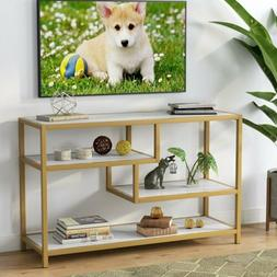 Versatile Hall Console Table Tribesigns 3-Tier Gold Metal Fr