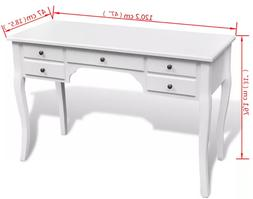 VidaXL High Quality Bedroom Desk with 5 <font><b>Drawers</b>