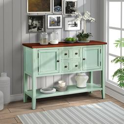 Vintage Antique Buffet Sideboard Cabinet Console Table with