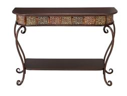 Vintage Hall Entry Table Living Room Antique Style Wood Meta