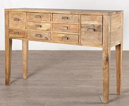NACH vv-7570 Rustic Wood Console Table 9 Drawers