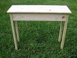 """36"""" Unfinished Pine Wall, Foyer, Sofa, Console, Hall Table w"""