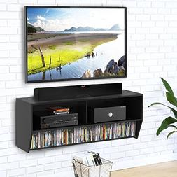 Fitueyes Wall Mounted Audio/Video Console wood grain for xbo
