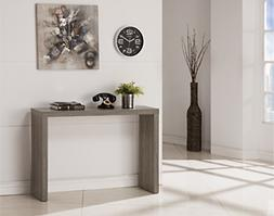 weathered grey finish modern console