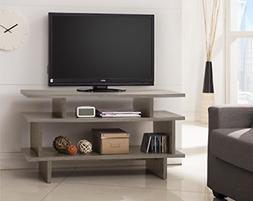 Weathered Grey Reclaimed-Look Tv Entertainment Center Consol