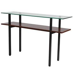 Flash Furniture West End Collection Glass Console Table with