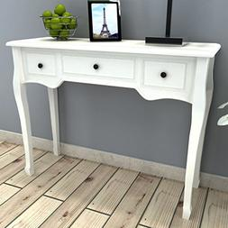 White Dressing Console Accent Table/End Table,Living Room Wo