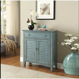 Acme Furniture Winchell Antique Blue Console Table 97247