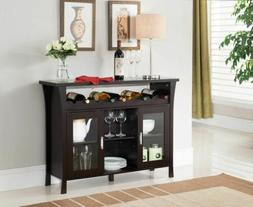 Kings Brand Furniture Wine Rack Buffet Server Console Table