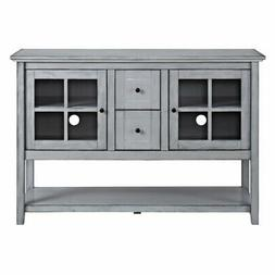 Walker Edison Wood 52 in. Console Table Buffet TV Stand