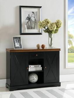 Kings Brand Furniture - Wood Buffet Cabinet Console Table, B