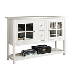"""Ergode 52"""" Wood Console Table Buffet TV Stand - White"""