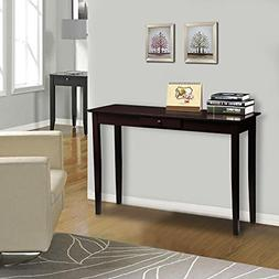 Yaheetech Wood Console Table Hall Table with one Drawer Espr