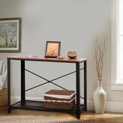 wood console table modern sofa accent