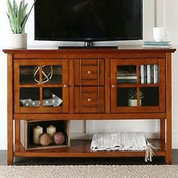 "Wood Console Table TV Stand for TVs up to 55"", Multiple Fini"