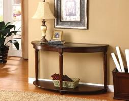 Wood Dark Cherry Hallway Accent Sofa / Console Table