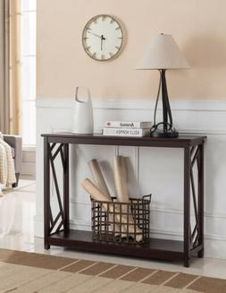 Kings Brand Furniture Wood Entryway Console Sofa Table, Dark
