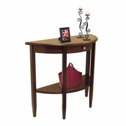 Winsome Wood Kaden Console Table - Half Moon - 4 Legs - 1 Dr