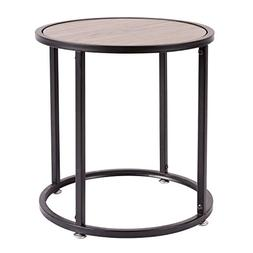 "HollyHOME Small Wood Round Coffee Table,15.7""x15.7""x18.9"" En"