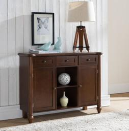 Kings Brand Furniture Wood Sideboard Buffet Cabinet Console
