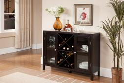 wood wine rack console sideboard