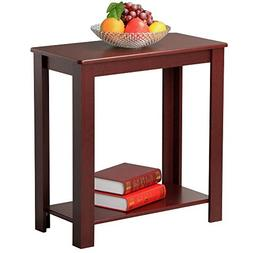 Yaheetech Chair Side Table Coffee Sofa Wooden End Shelf Livi