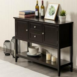 Wooden Sideboard Buffet Console Table W/ 2 Drawers and 2 Cab