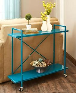 X Accent Metal Rolling Console Table Kitchen Storage Cart -