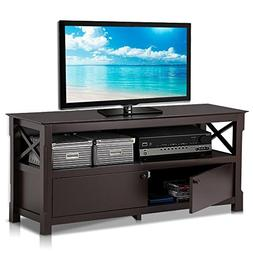 Yaheetech X-Design Wood TV Stand Storage Console for TVs up