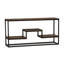Baxton Studio Yves Metal and Wood Console Table